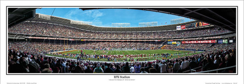 """RFK Stadium"" Washington Redskins Panoramic Poster"