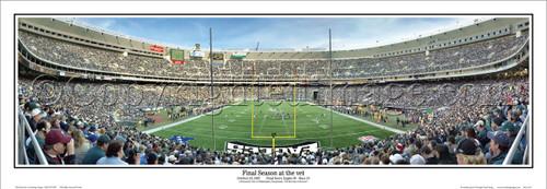 """Final Season at the Vet"" Philadelphia Eagles Panoramic Poster"