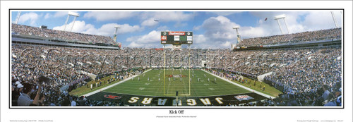 """Kick Off"" Jacksonville Jaguars Panoramic Poster"