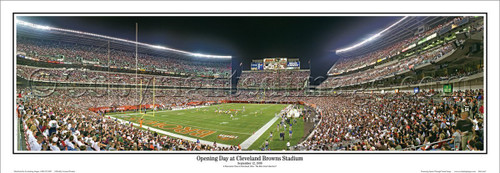 """""""Opening Day"""" Cleveland Browns Panoramic Poster"""