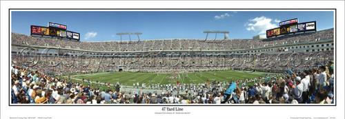 """47 Yard Line"" Carolina Panthers Panoramic Poster"
