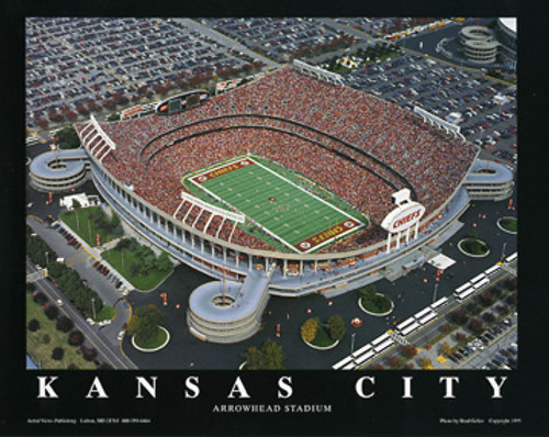 Arrowhead Stadium Aerial Poster