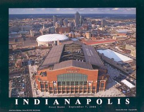 Lucas Oil Stadium Aerial Poster