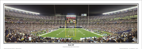 """Kick Off"" San Diego Chargers Panoramic Poster"