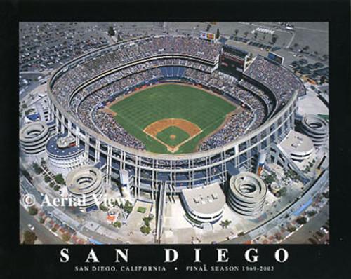 Qualcomm Stadium Aerial Poster