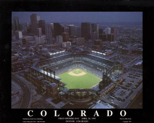 Coors Field Aerial Poster