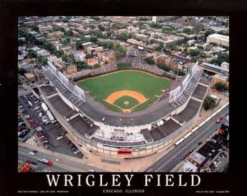 Wrigley Field Aerial Poster
