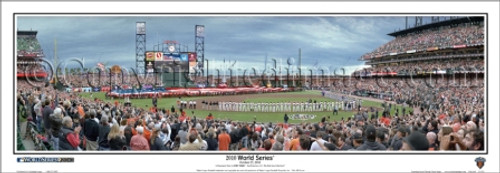 """""""2010 World Series"""" San Francisco Giants Panoramic Framed Poster"""
