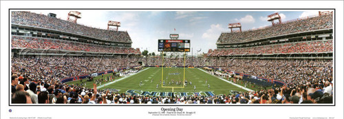 """""""Opening Day"""" Tennessee Titans Panoramic Poster"""