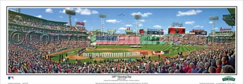 """""""100th Opening Day"""" Fenway Park Panoramic Framed Poster"""