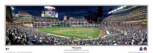 """""""Fifth Inning"""" Minnesota Twins at Target Field Panoramic Framed Poster"""