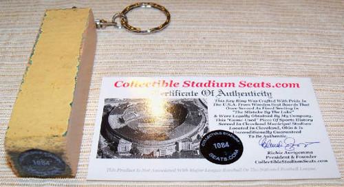 Cleveland Municipal Stadium Seat Slim Keyring 1