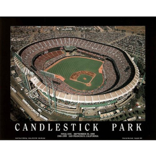 Candlestick Park Giants Aerial Poster