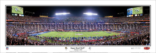 """Super Bowl XLIV"" New Orleans Saints Panoramic Poster"