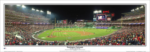 """First Pitch"" Washington Nationals Deluxe Framed Framed Poster"