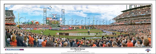 """""""2012 World Series"""" San Francisco Giants Panoramic Framed Poster"""