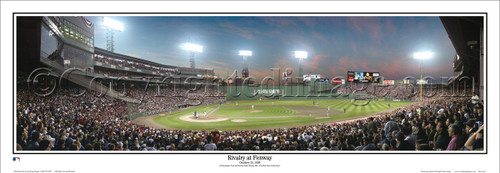 """""""Rivalry at Fenway"""" Yankees vs. Red Sox Panoramic Poster"""