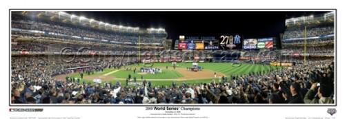 """2009 World Series Champions"" New York Yankees Panoramic Framed Poster"