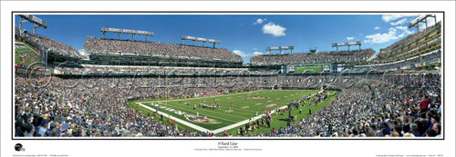 """9 Yard Line"" Baltimore Ravens Panoramic Poster"