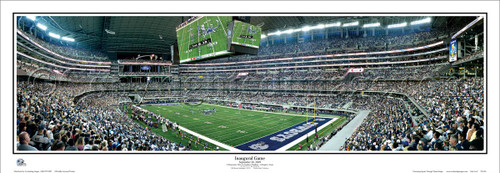 """Inaugural Game"" AT&T Cowboys Stadium Panoramic Poster"