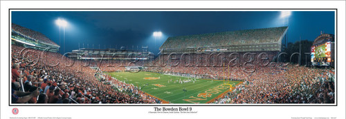 """The Bowden Bowl"" Clemson Tigers Panoramic Poster"