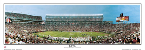 """Roll Tide"" Alabama Crimson Tide Panoramic Poster"
