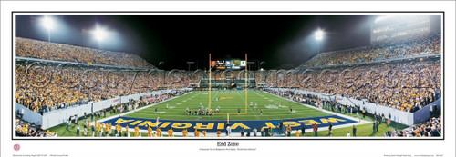 """End Zone"" WVU Mountaineers Panoramic Poster"