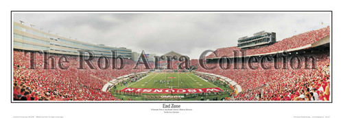 """""""End Zone"""" Wisconsin Badgers Panoramic Poster"""