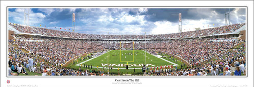 """""""View from the Hill"""" Virginia Cavaliers Panoramic Poster"""
