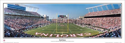 """End Zone"" South Carolina Gamecocks Panoramic Poster"