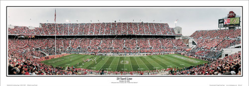 """20 Yard Line"" Ohio State Buckeyes Panoramic Poster"
