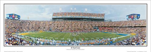 """45 Yard Line"" LSU Tigers Panoramic Poster"