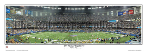 """2007 Allstate Sugar Bowl"" LSU Tigers Panoramic Poster"