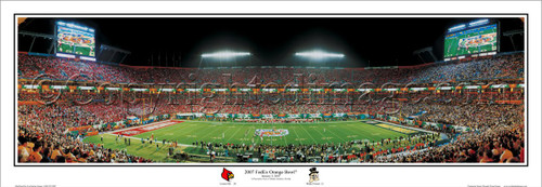 """2007 FedEx Orange Bowl"" Louisville Cardinals Panoramic Poster"