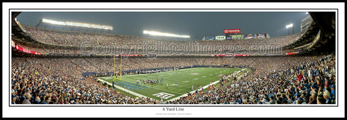 """6 Yard Line"" Giants Stadium Panoramic Poster"