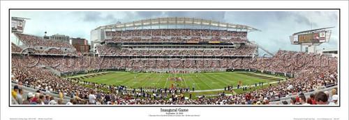 """""""Inaugural Game"""" Cincinnati Bengals Panoramic Poster"""