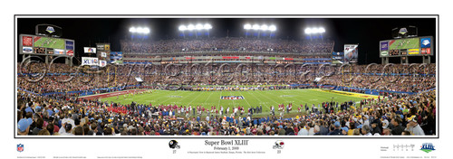 """Super Bowl XLIII"" Steelers Panoramic Poster"