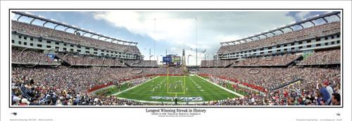 """Longest Winning Streak"" New England Patriots Panoramic Poster"