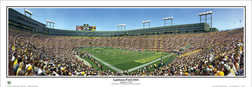 """Lambeau Field 2003"" Green Bay Packers Panoramic Poster"
