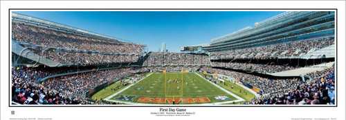 """First Day Game"" Soldier Field Panoramic Poster"