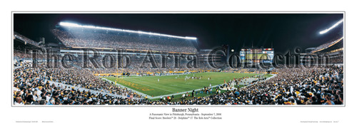 """""""Banner Night"""" Heinz Field Panoramic Poster"""