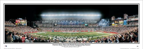 """Banner Night"" Gillette Stadium Panoramic Poster"