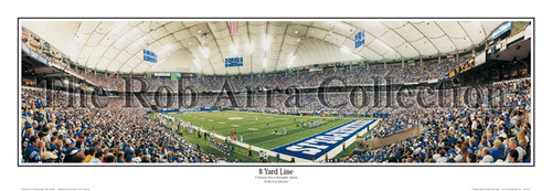 """8 Yard Line"" Indianapolis Colts Panoramic Poster"