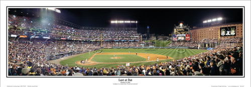 """Last at Bat"" Cal Ripken Jr. at Camden Yards Panoramic Framed Poster"