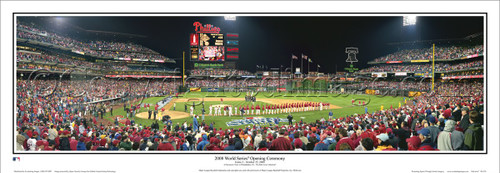 """2008 World Series Opening Ceremony"" Phillies Panoramic Framed Poster"