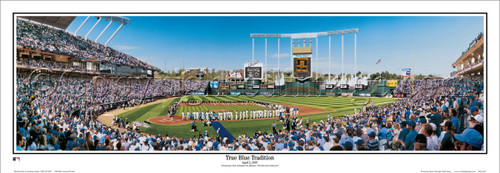 """True Blue Tradition"" Kansas City Royals Panoramic Framed Poster"