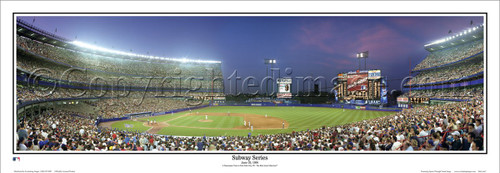 """Subway Series"" Mets vs. Yankees at Shea Stadium Panorama Framed Poster"