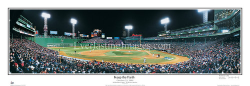 """""""Keep the Faith"""" Boston Red Sox Panoramic Framed Poster"""
