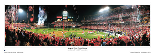 """Angels Earn Their Wings"" World Series Panoramic Framed Poster"