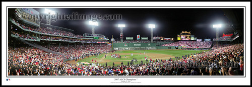 """""""ALCS Champions 2007"""" Boston Red Sox Panoramic Framed Poster"""